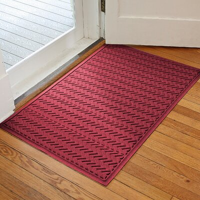 Harding Chevron Doormat Rug Size: 2 x 3, Color: Red