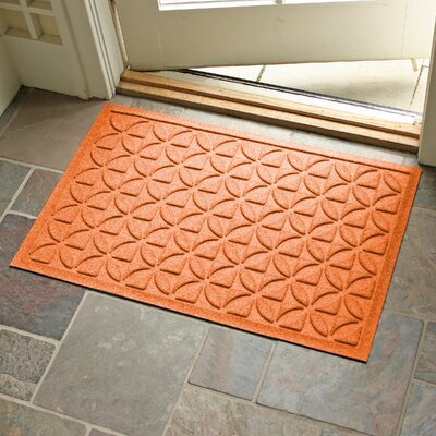 Conway Rectangle Doormat Color: Orange