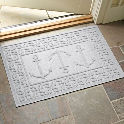 Aqua Shield Ahoy! Doormat Color: White