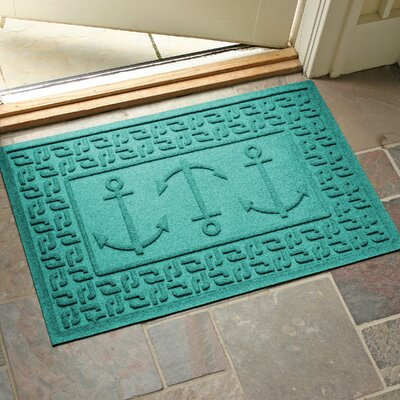 Conway Ahoy! Doormat Color: Aquamarine