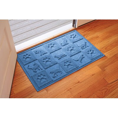 Aqua Shield Cat in the Doormat Color: Medium Blue
