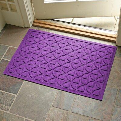 Conway Rectangle Doormat Color: Purple