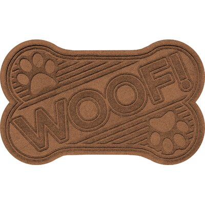 Aqua Shield Woof Doormat Color: Dark Brown