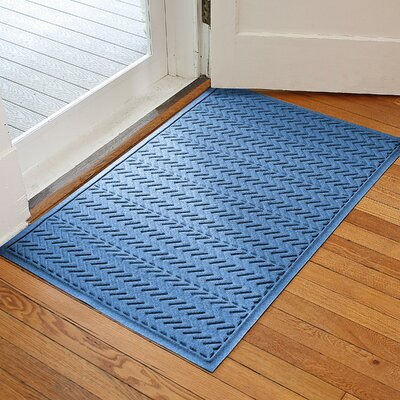 Harding Chevron Doormat Rug Size: 3 x 5, Color: Medium Blue