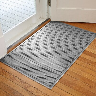 Harding Chevron Doormat Rug Size: 3 x 5, Color: Medium Gray