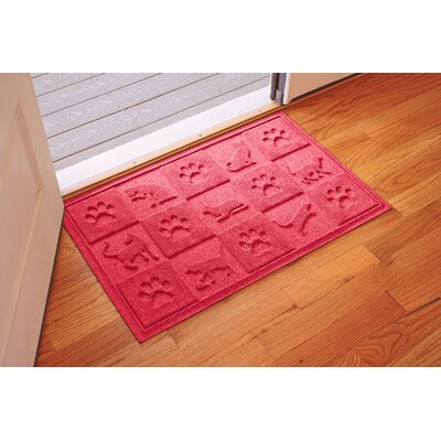 Aqua Shield Cat in the Doormat Color: Solid Red