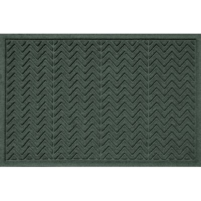Aqua Shield Chevron Doormat Rug Size: 2' x 3', Color: Evergreen