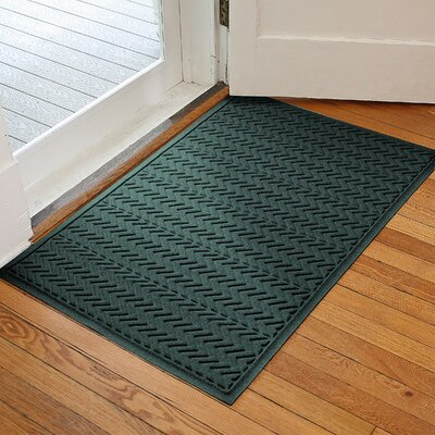 Harding Chevron Doormat Rug Size: 2 x 3, Color: Evergreen