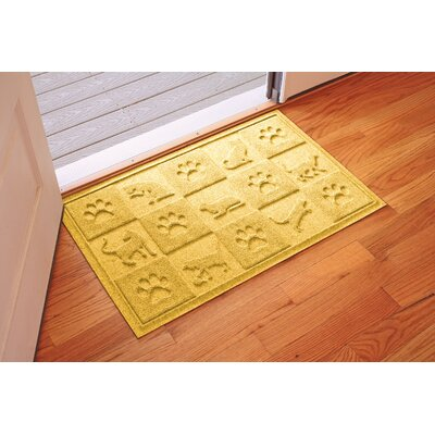 Aqua Shield Cat in the Doormat Color: Yellow
