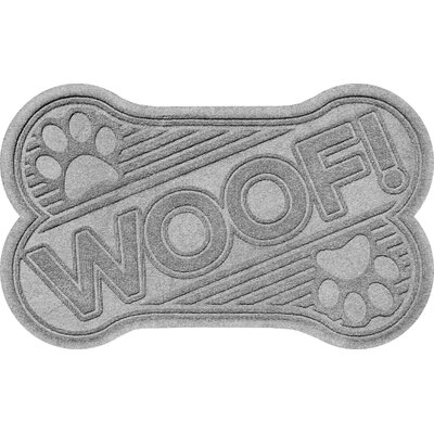 Aqua Shield Woof Doormat Color: Medium Gray