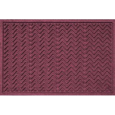 Aqua Shield Chevron Doormat Rug Size: 2' x 3', Color: Bordeaux