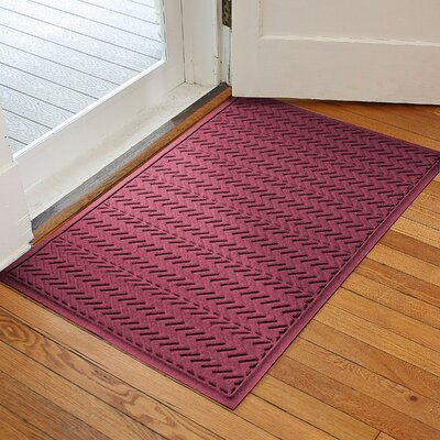 Harding Chevron Doormat Rug Size: 3 x 5, Color: Bordeaux