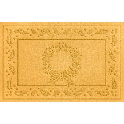 Conway Wreath Doormat Color: Yellow