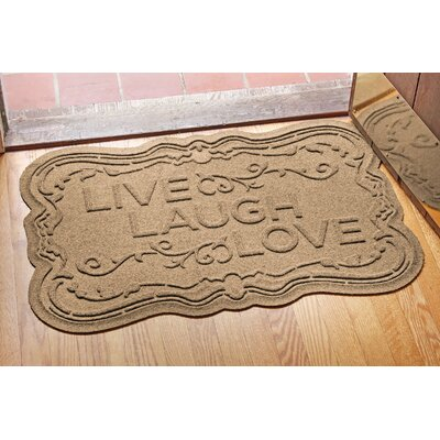 Aqua Shield Live, Laugh, Love Doormat Color: Camel