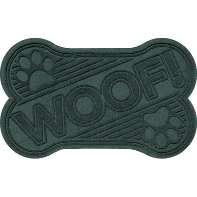 Aqua Shield Woof Doormat Color: Evergreen