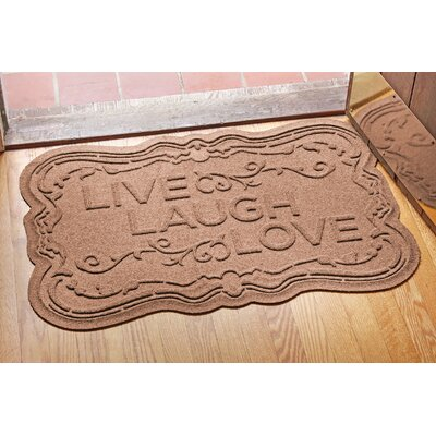 Aqua Shield Live, Laugh, Love Doormat Color: Medium Brown