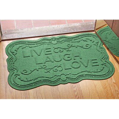 Aqua Shield Live, Laugh, Love Doormat Color: Light Green