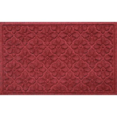Conway Medallion Doormat Color: Red