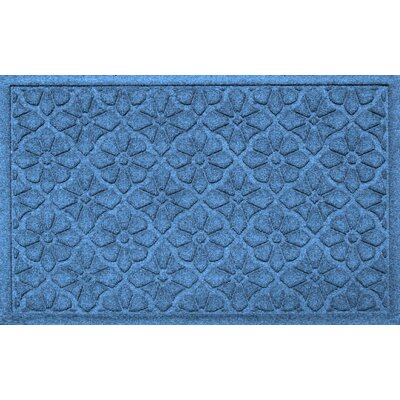 Aqua Shield Medallion Doormat Color: Medium Blue