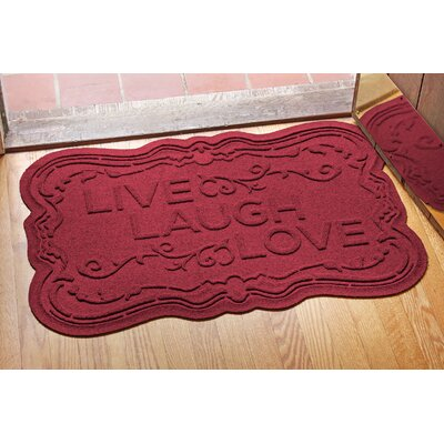 Aqua Shield Live, Laugh, Love Doormat Color: Red