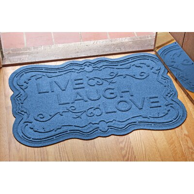 Aqua Shield Live, Laugh, Love Doormat Color: Medium Blue