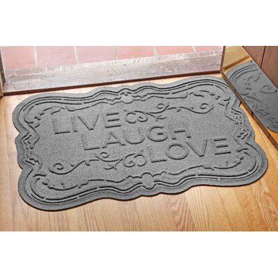 Aqua Shield Live, Laugh, Love Doormat Color: Medium Gray