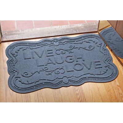 Aqua Shield Live, Laugh, Love Doormat Color: Bluestone