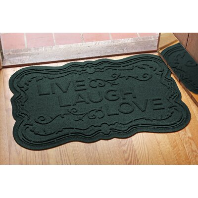 Conway Live, Laugh, Love Doormat Color: Evergreen