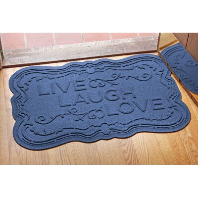 Aqua Shield Live, Laugh, Love Doormat Color: Navy