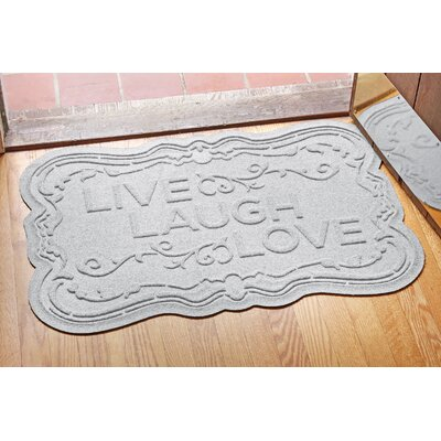 Aqua Shield Live, Laugh, Love Doormat Color: White