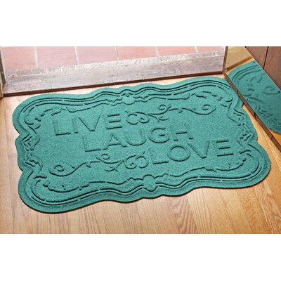 Conway Live, Laugh, Love Doormat Color: Aquamarine