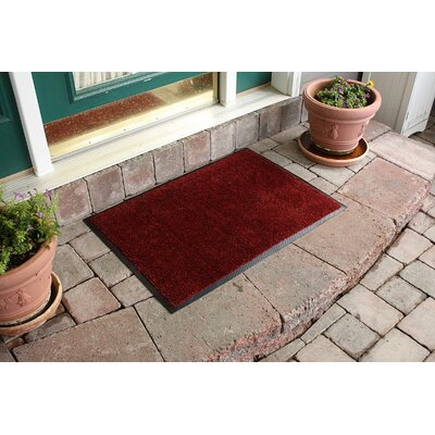 Aqua Shield Dirt Stopper Supreme Doormat Color: Red Pepper