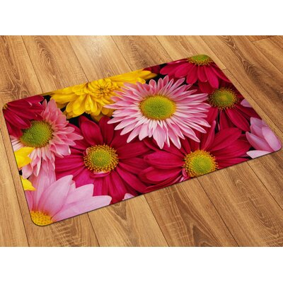 Fo Flor Flowers Doormat Rug Size: Rectangle 111 x 3