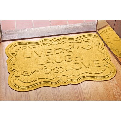 Aqua Shield Live, Laugh, Love Doormat Color: Yellow