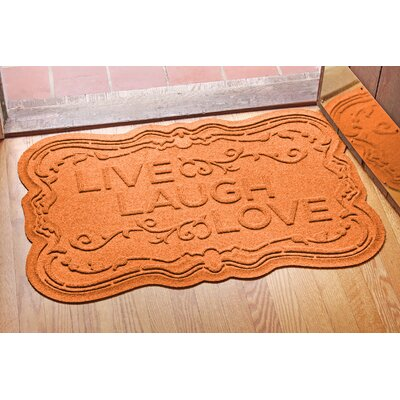 Aqua Shield Live, Laugh, Love Doormat Color: Orange