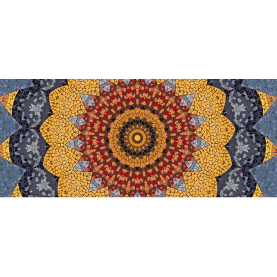 Shawnee Sundial Mosaic Doormat Mat Size: Rectangle 21 x 5