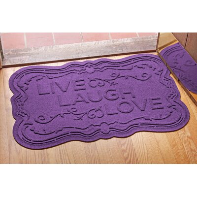 Aqua Shield Live, Laugh, Love Doormat Color: Purple
