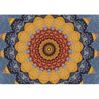 Shawnee Sundial Mosaic Doormat Mat Size: Rectangle 310 x 56