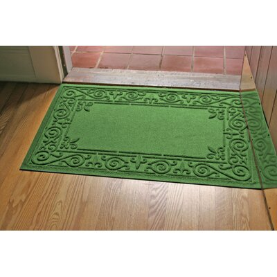 Aqua Shield Iron Fleur Doormat Color: Light Green
