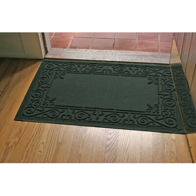 Aqua Shield Iron Fleur Doormat Color: Evergreen
