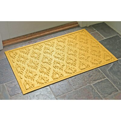 Aqua Shield Ikat Doormat Color: Yellow, Rug Size: Rectangle 22 x 31