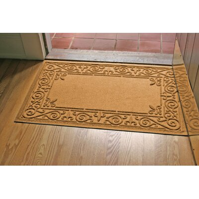 Aqua Shield Iron Fleur Doormat Color: Gold