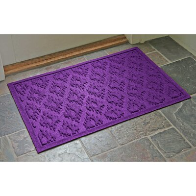 Aqua Shield Ikat Doormat Color: Purple, Rug Size: 22 x 31