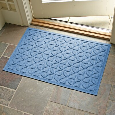 Conway Rectangle Doormat Color: Medium Blue