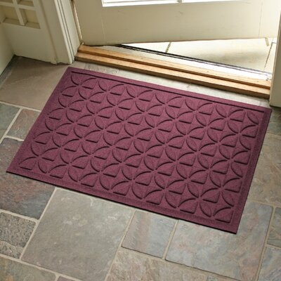 Conway Rectangle Doormat Color: Bordeaux