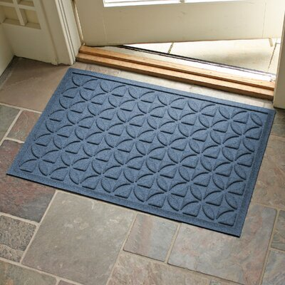 Conway Rectangle Doormat Color: Navy