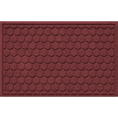 Finnerty Honeycomb Doormat Color: Bordeaux