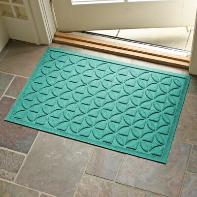 Conway Rectangle Doormat Color: Aquamarine