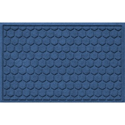 Finnerty Honeycomb Doormat Color: Navy