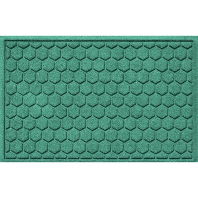 Aqua Shield Honeycomb Doormat Color: Aquamarine